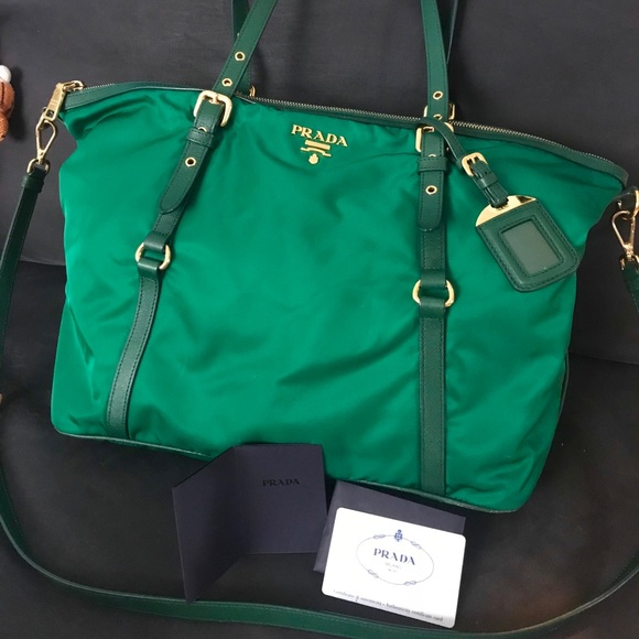 759b4c1dca64 Prada Bags | Tessutosaffiano In Oleandrogreen Bag | Poshmark
